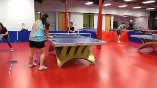 Training with Coach Amy: Backhand looping against backspin