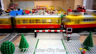 Lego Town Trains - 12v Lego Train Layout from 1980's