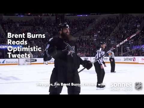 Brent Burns Reads Optimistic Tweets