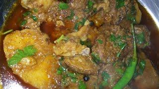 Aloo gosht   non veg recipe   easy to make at home   by Reshma ali