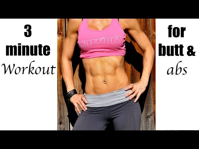 3 Minute Cardio Workout For Butt and Abs