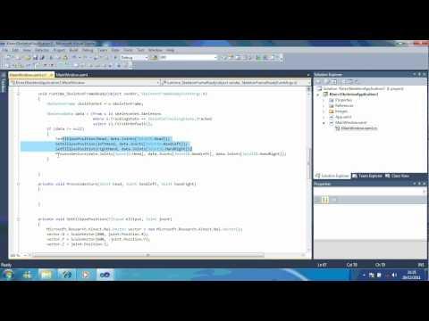 0 Lesson 7   Program Kinect SDK to use Mouse Cursor