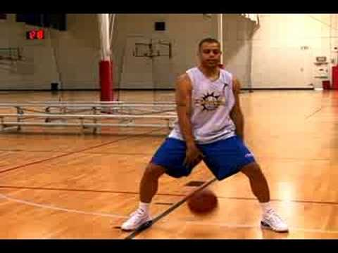 Basketball Dribbling Drills : The Figure 8 Drill in Basketball