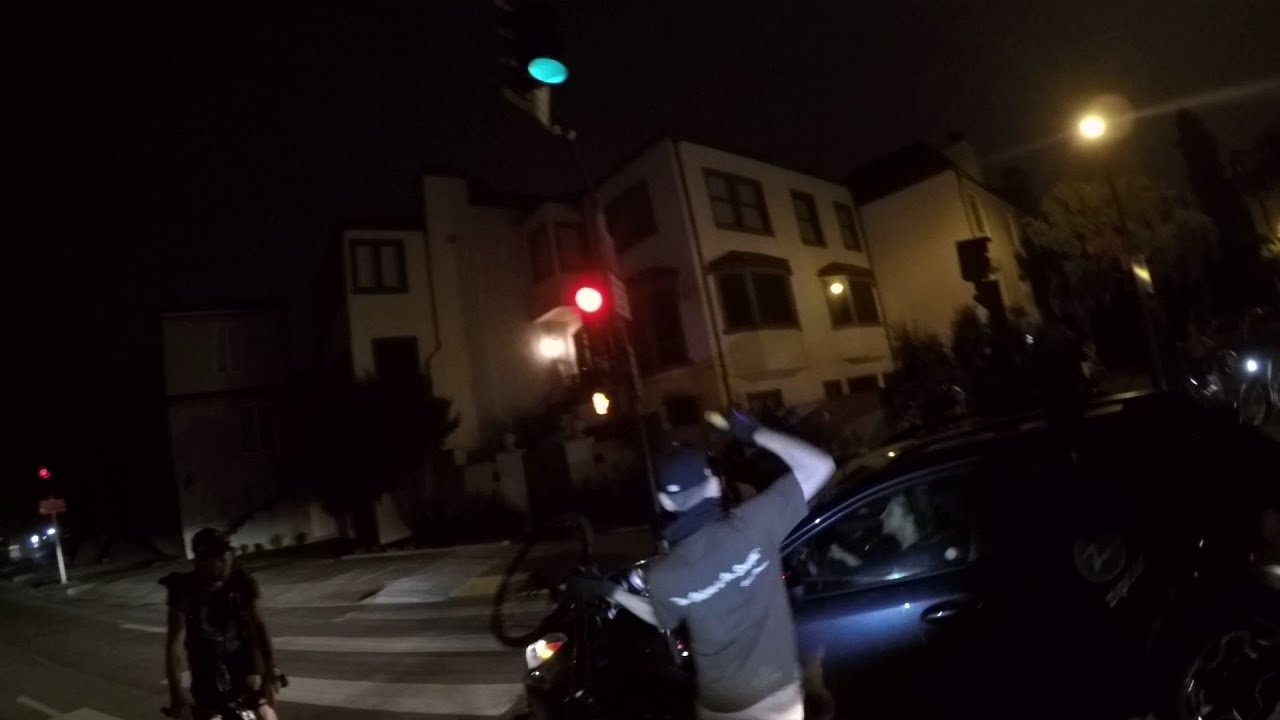 Road Rage Cyclist Breaks Car Window with U-Lock WARNING: This Video is Copyrighted Material