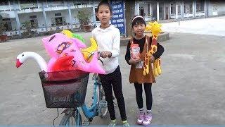 Trò Chơi Đi Xe Đạp Săn Các Con Vật Trong Sân Trường ❤ Baby channel