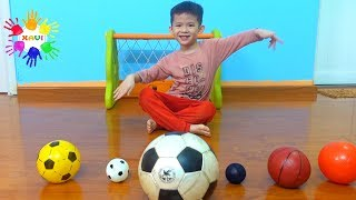 Color Song and Learn Colors with Soccer Balls | Xavi ABCkids Playing Football