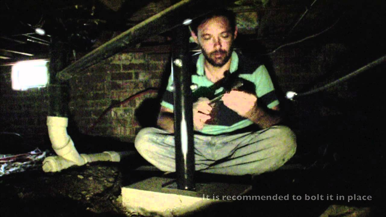 Diy home foundation repair floor jack in a crawl space for How to build a crawl space foundation for a house