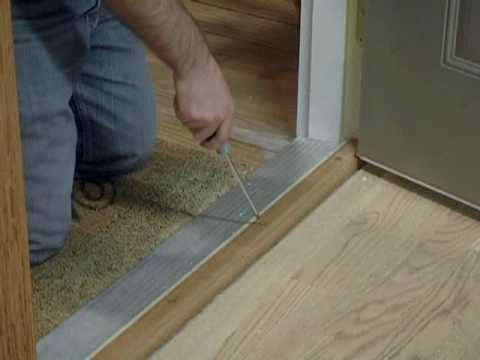 Installing a new door bottom youtube for How to install a threshold for an exterior door