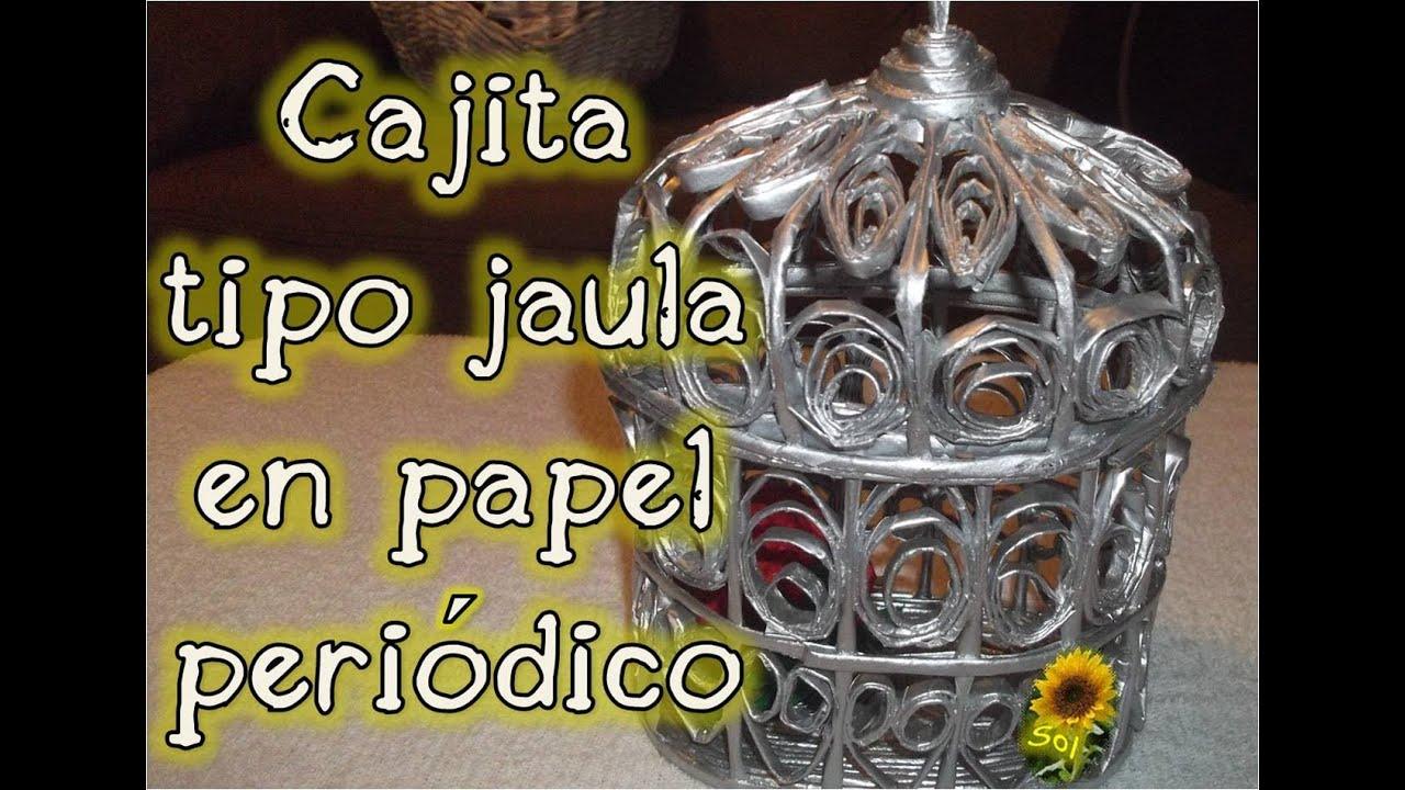Jaulas De Papel Periodico