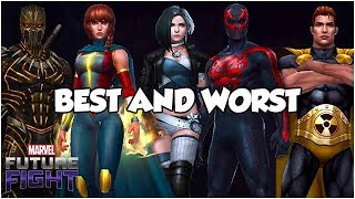 BEST AND WORST (SUBSCRIPTION HEROES) - Marvel Future Fight