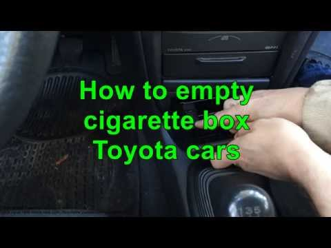 How to empty cigarette box Toyota cars. Years 2000 to 2015