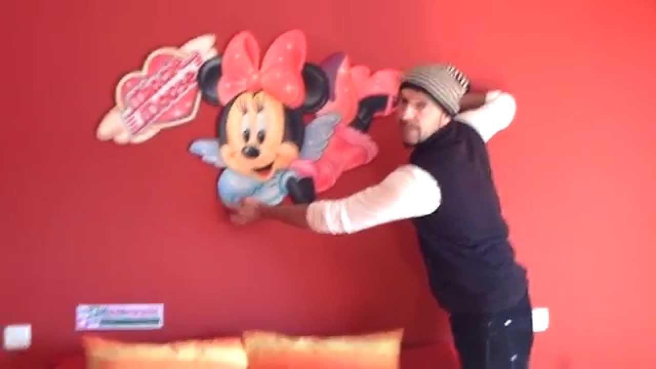 Murales infantiles minnie mouse decoraci n dormitorio - Habitaciones infantiles disney ...
