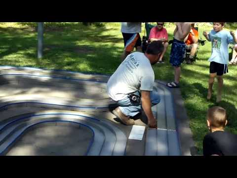 Racing Tamiya Mini 4wd at Weavers Resort & Campground  Pelican Lake, WI