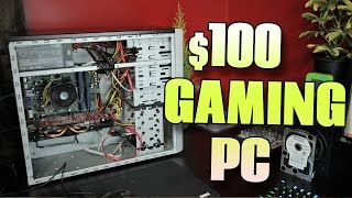 $100 GAMING PC - Part 2/2 - Can it PLAY GTA 5 & Fallout 4 @ 1080p?!