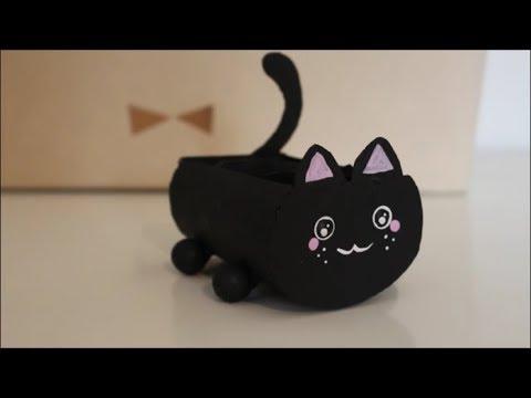 DIY: Aufbewahrung Katze / Upcycling / Basteln gegen Langeweile / Inspiration / Room Decor