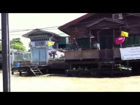 Way to Bangkok floating market