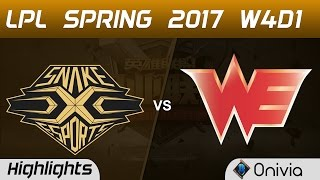 SS vs WE Highlights Game 1 LPL Spring 2017 W4D1 Snake vs Team WE