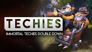 Immortal Techies Double Down, Trying to keep the team calm.