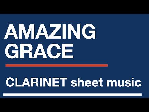 Amazing Grace - Easy clarinet sheet music score