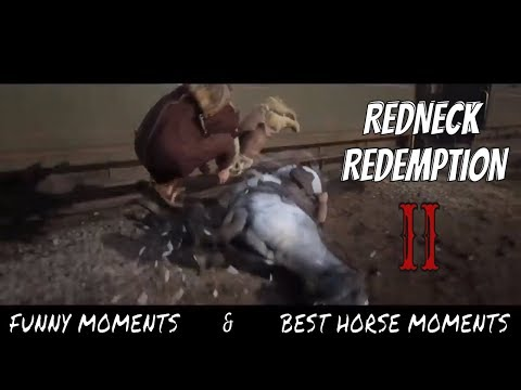 Red Dead Redemption 2   Funny Moments Compilation - RDR2 Best Horse Moments