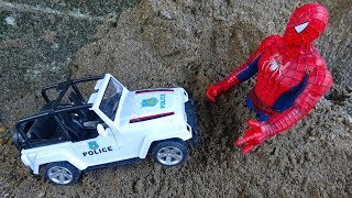 🚚 Police cars, spiders and dinosaurs 🚚 F62B Toys for kids 🚚