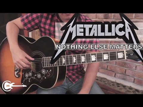 Como Tocar nothing Else Matters De Metallica - Tutorial Guitarra + Tab (hd) video