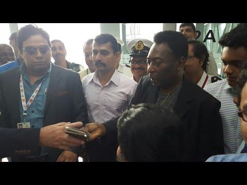Brazilian football legend Pele arrives in Kolkata after 38 years