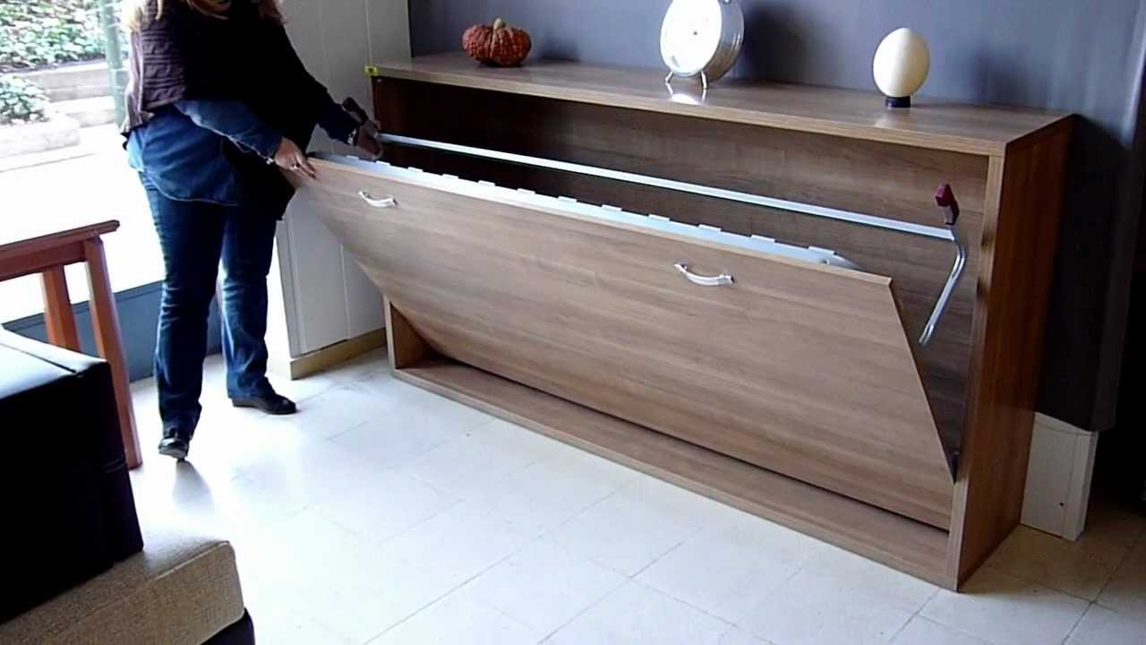 Cama abatible horizontal 80 90 105 y 120cm econ mica muebles mariano youtube Muebles tipo ikea