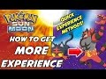 How to Get More Experience Points in Pokemon Sun and Moon! Quick Leveling Methods!