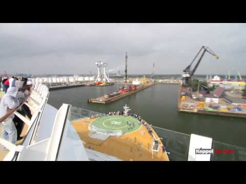 Aankomst Oasis of the Seas in de haven van Rotterdam