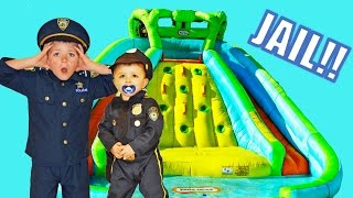 Little Heroes   The Water Bandit a real life Kid Cop video parody with superheroes in real life funn