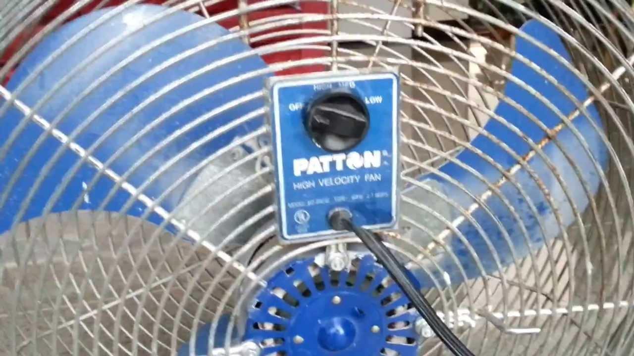 Patton air circulator (industrial, heavy duty) - YouTube