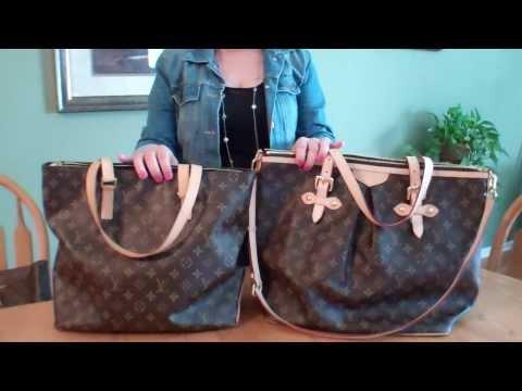 Louis Vuitton Palermo GM & Cabas Mezzo Bag Comparison
