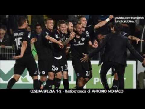 Cesena-Spezia 1-2 - Radiocronaca di Antonio Monaco (24/5/2016) Preliminare Playoff (Radio Rai)