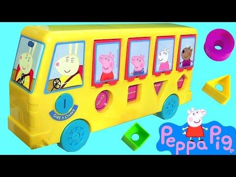 Ônibus de Atividades da Peppa Pig Elka com Pig George Brinquedos em Portugues Brasil ToysBR Rihappy