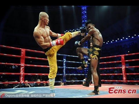 Лучшие нокауты Yi Long'а! Он бешенный шаолинец!Китайский Дракон./The best knockouts!