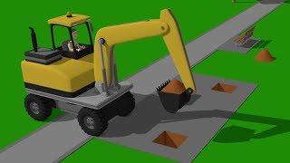 Wheeled Excavator and mini Excavator - preparations for the New Year | Street Vehicles - Maszyny