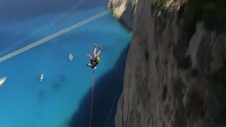 In Grecia il rope jumping, l