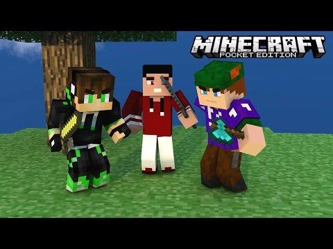 Minecraft PE 0.11.1 : SkyWars - Time com Inscrito