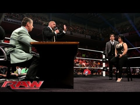 Stephanie McMahon fires Vickie Guerrero; Mr. McMahon appoints Brad Maddox the new Raw GM: Raw, July thumbnail