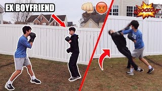 BOXING MY GIRLFRIENDS EX BOYFRIEND! (CRAZY)