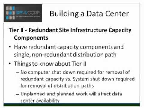 Building a Data Center: How to Understand Tier Classifications