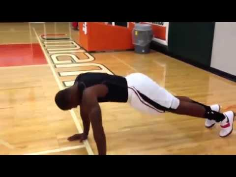 Amare Stoudemire 50 push ups loses bet to LeBron james