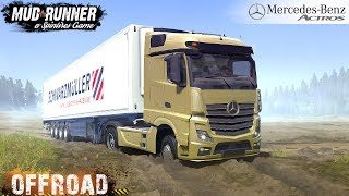 Spintires: MudRunner - MERCEDES-BENZ ACTROS Stuck in the dirt on the Off-roads