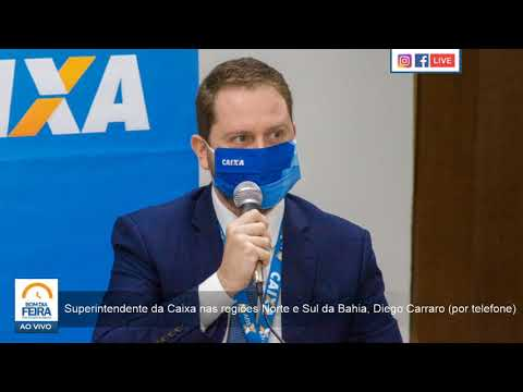 Superintendente da Caixa em regiões da Bahia, Diego Carraro, tira dúvidas sobre auxílio emergencial