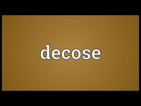 Header of decose