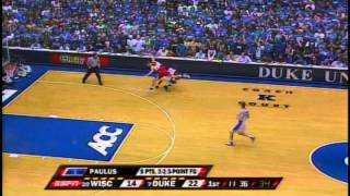 Duke Rolls vs. Wisconsin in Cameron