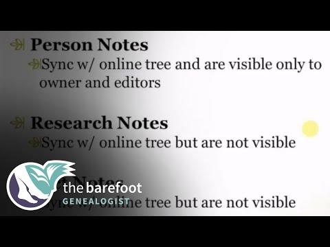 Family Tree Maker:  Notes