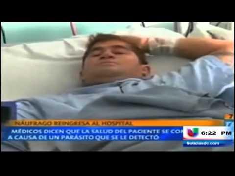 Náufrago salvadoreño vuelve al hospital