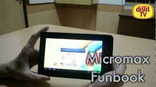 Micromax funbook [Hands on]